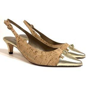 Vaneli Shoes - Vaneli Womens Slingback Heels Pointed Toe